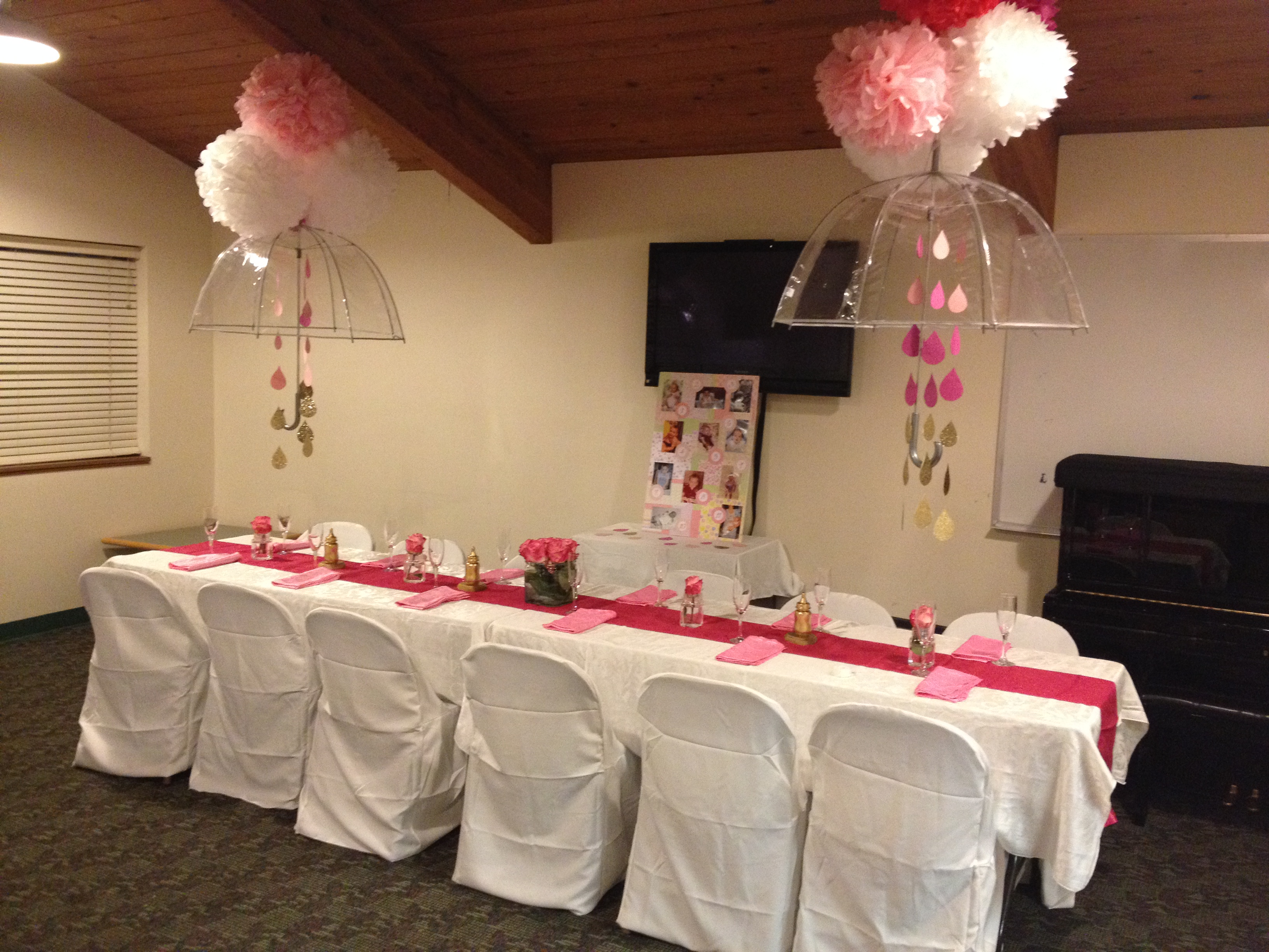 Baby Shower Decoration Umbrella girly baby shower | mrs and momma